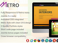 NOO Metro, Responsive Multi Purpose Joomla 3 Theme