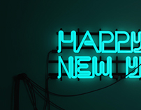 Happy New Year. (Neon Light)