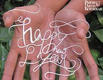 Papercut art - Happy new year