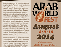 Arab World Fest Brochure