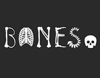 Bones. Typeface