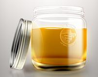 Honey Bottle Photoshop Sketch