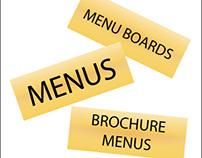 Brochure Menus - Menus - Menu Boards