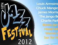 Mock-up Jazz Festival Poster - Stylized Illustration