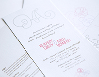 Kimberley and Aaron's Wedding Invitation