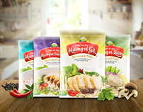Golden Pack Field Food Brand, Packages Design