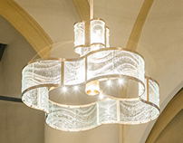 Glass luminaries for Notre-Dame de l'Assomption Church