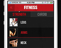 Fitness Training iPhone App Free PSD