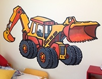 Construction-Style Mural (for a Child's Room)