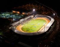 Baypark Stadium Aerial night shoot