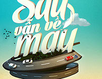 Di sau van ve mau - 3D typo version