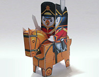 Penguin Nutcracker Cavalry