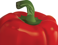 Illustration of red pepper