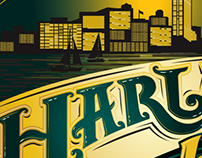 Harlan Hops Beer Label Design Comps