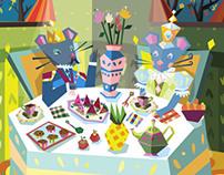 Animal Illustration for 2014 Calendar