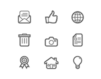 42 General Line Symbol Icons