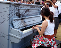 PMIY-Global Street Piano Project,Melbourne Australia