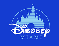 Disobey Miami T-Shirt Design.