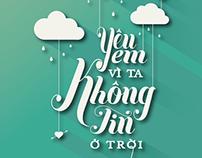 [typography] Yêu em vì ta không tin ở trời