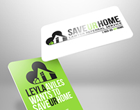 Save Ur Home Business Card Design.