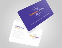 Showroom Cleaning Business Card Design.