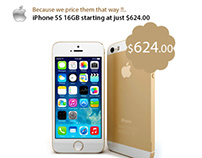 iPhone 5S 16GB Web Banner For Global Tech USA