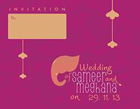 Wedding Invite Design_Sameer & Meghana