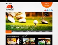 Web designing for Arizona Golf Resort