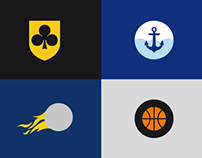 PLK - basketball minimal logos