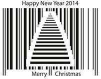 Happy New Year barcode