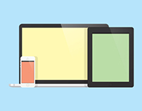 Flat Design Apple Devices