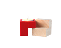 Sideways Interchangeable Candle holders Solid Wood