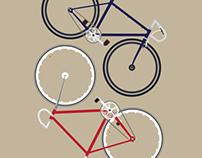 Fixed gear bikes - illustration