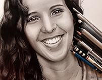 """Desenho Retrato """"Patrícia"""""""