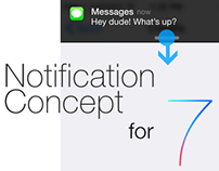 Notification concept for ios7
