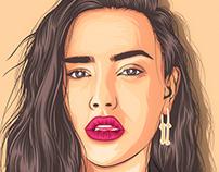 Katherine Langford Portrait Illustration