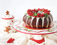 Chocolate baileys christmas cake