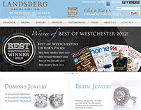 Landsberg Jewelers e-commerce website