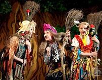 """Scenografia i kostiumy do spektaklu """"Magiczny las!"""""""