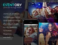 Eventory - Responsive Events Joomla Template