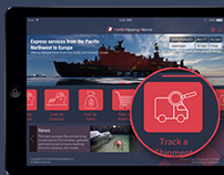 iOS 7 Style iPad App for the Shipping Industry