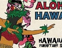 Postcard Design -Hawaiian furniture shop MARTAC-