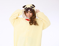 pug-dog Kigurumi Animal costumes