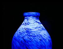 bottle blue