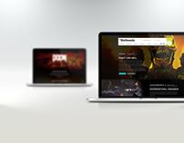 DOOM / Bethesda Landing Page