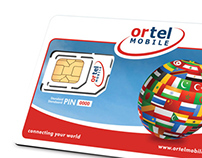 SIM card and Packaging design for Ortel Mobile Belgium