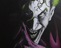 ++ The Joker ++ acrylic painting / in progress