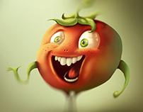 Tomato & Bunny characters