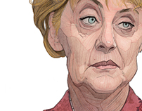 Angela Merkel illustration portrait