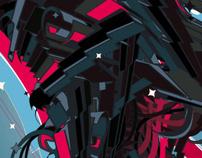 Abstrakt futuristic beast